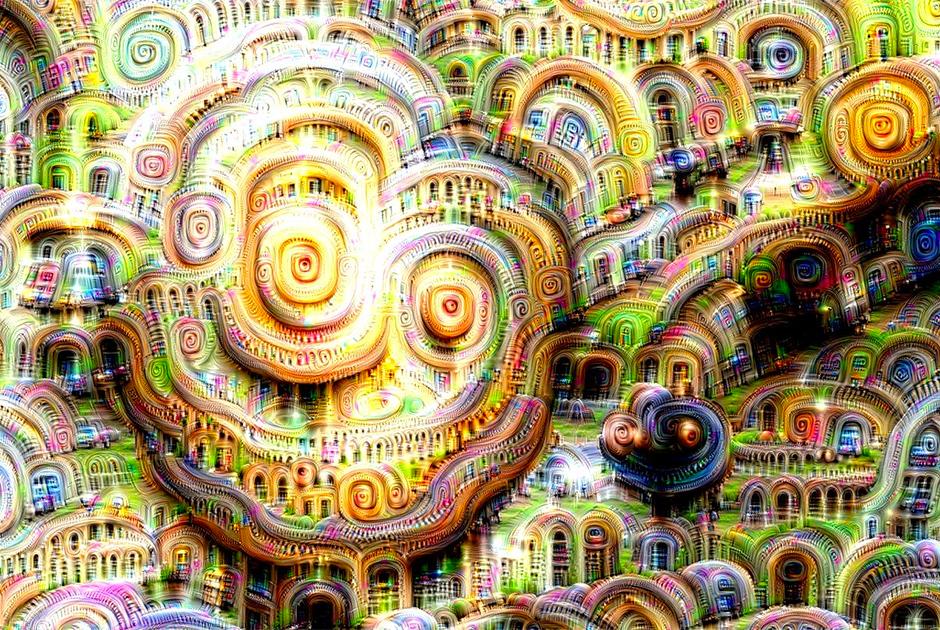В 2015 году Google опубликовала подробный рассказ специалистов о том, что нейронную сеть можно научить писать целые картины. Для этого технологии «скормили» множество изображений, затем масштабировали их и отдавали команду найти на картинке знакомые предметы и выделить их яркими цветами. В процессе многократного повторения выяснилось, что конечный результат вполне можно признать отдельным видом искусства, абсолютно непохожим на то, что было создано ранее.
