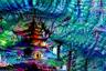 Многократное повторение отдельных элементов картин в итоге вылилось в нечто космическое: помимо фрагментов, которые «видит» нейронная сеть, к работе добавлялись невероятные цвета.