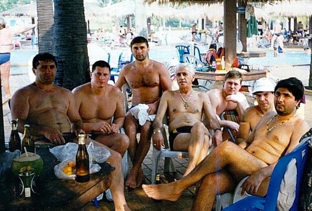Захарий Калашов (крайний справа) в Испании