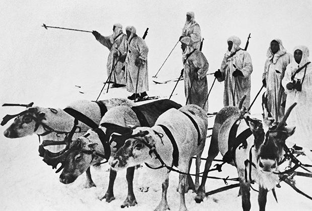 Оленно-лыжный батальон в Заполярье