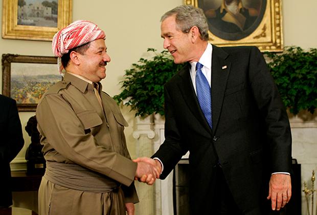 Масуд Барзани и Джордж Буш-младший