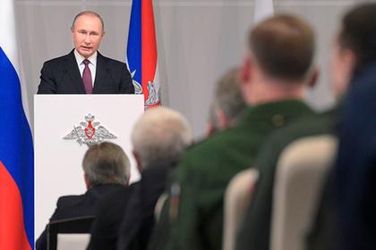 Путин снял с должностей 11 генералов силовых ведомств