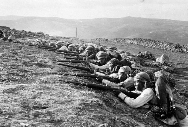 Османские солдаты на фронте Первой мировой войны