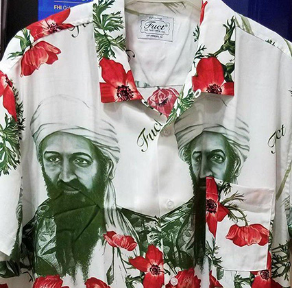 Рубашка с принтом в виде портрета Усамы бен Ладена