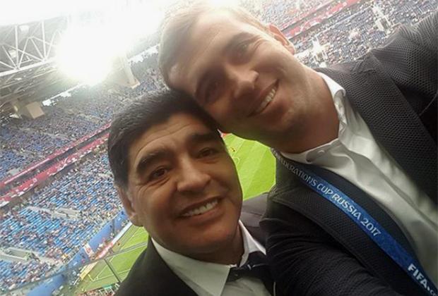 Александр Кержаков и Диего Марадона