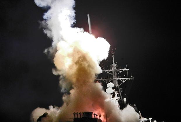 Запуск американской ракеты «Томагавк»