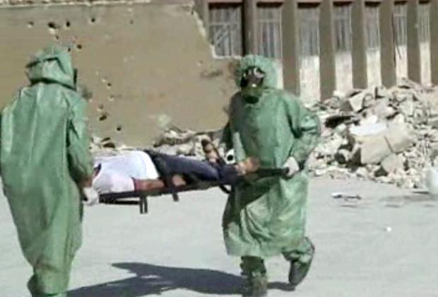Ликвидация последствий химической атаки в сирийском Алеппо в сентябре 2013 года