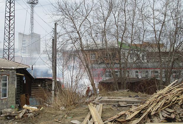 Железнодорожный район Красноярска. Здесь жгут мусор