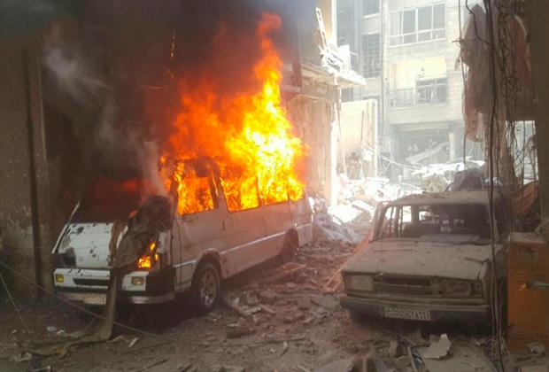 Последствия бомбардировок города Дума