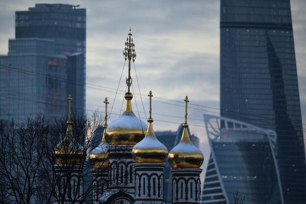 Купола храма святителя Николая в Хамовниках