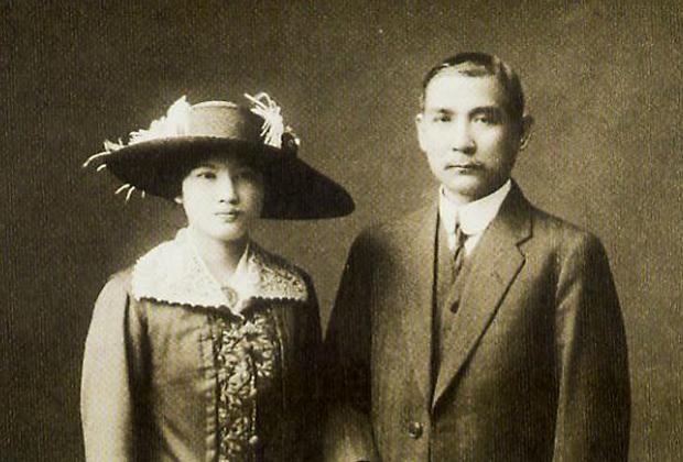 «Отец китайской нации» Сунь Ятсен с женой Сун Цинлин