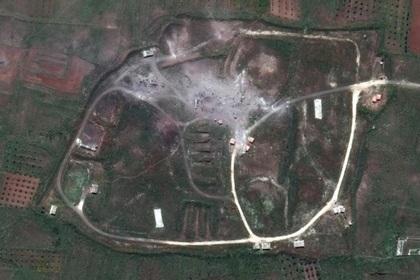 Один из объектов в провинции Хомс после ракетного удара