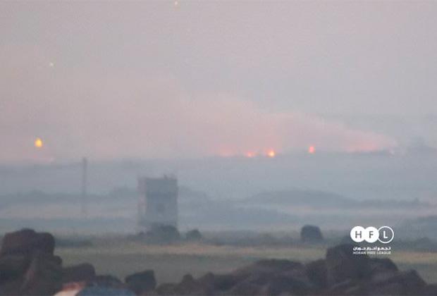 Фото последствий ударов ракет по базе ПВО в провинции Сувейда