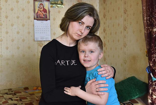 Тимофей с мамой Наташей