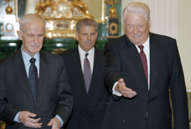 Хафез Асад и Борис Ельцин