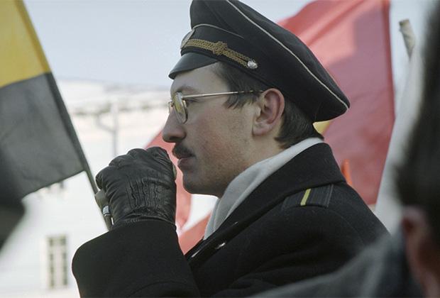 Москва. 29 ноября 1998 года. Один из лидеров национально-патриотического фронта «Память» Александр Поткин во время выступления на митинге