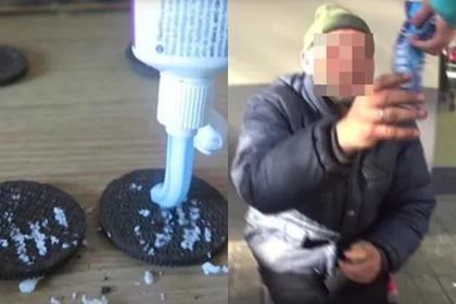 Блогер накормил бездомного печеньем сзубной пастой иугодил под суд