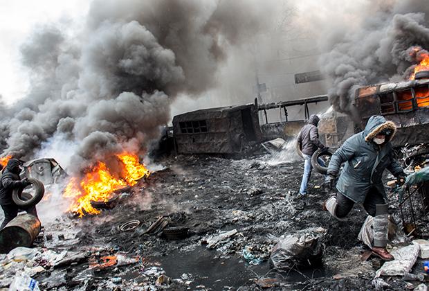Евромайдан. Беспорядки в Киеве.