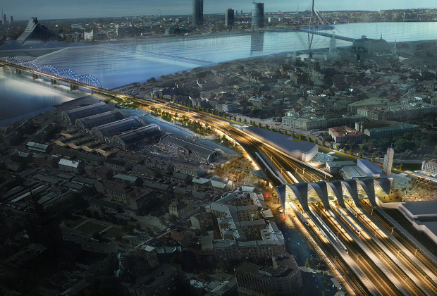 Проект нового рижского вокзала Rail Baltica