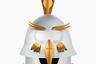 Стилизованную птицу (pavone в переводе с итальянского означает «павлин») из тонированного алюминия придумал для марки altreforme дизайнер Антонио Арико. Она входит в линию Raw&Rainbow и выпущена всего в 10 экземплярах в честь 10-летия бренда.