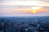 Вид на Лейпциг с самой высокой смотровой площадки — Panorama Tower.