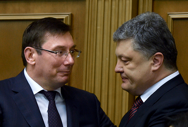 Юрий Луценко (слева) и Петр Порошенко