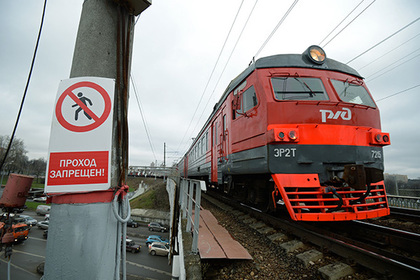 Московская электричка начала разваливаться на ходу