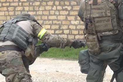 Опубликовано видео ликвидации боевиков в Дагестане