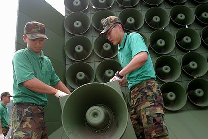 Южная Корея остановит войну громкоговорителей с северокорейцами