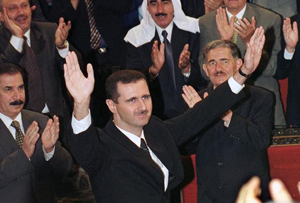 Башар Асад во время инаугурации