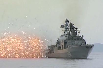 Стрельбы крейсера «Варяг» показали на видео