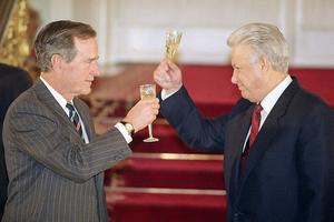 Джордж Буш и Борис Ельцин
