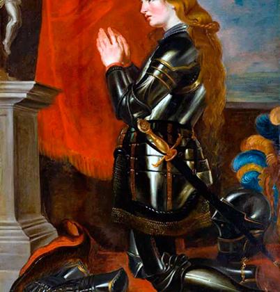 Французская национальная героиня Жанна д'Арк