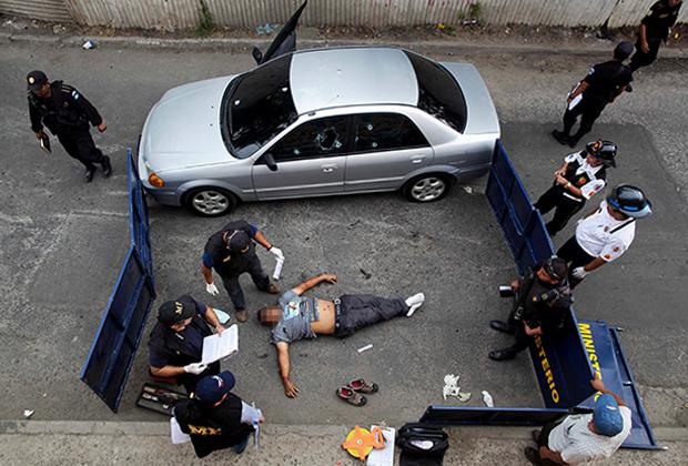 Убитый на улице Гватемалы