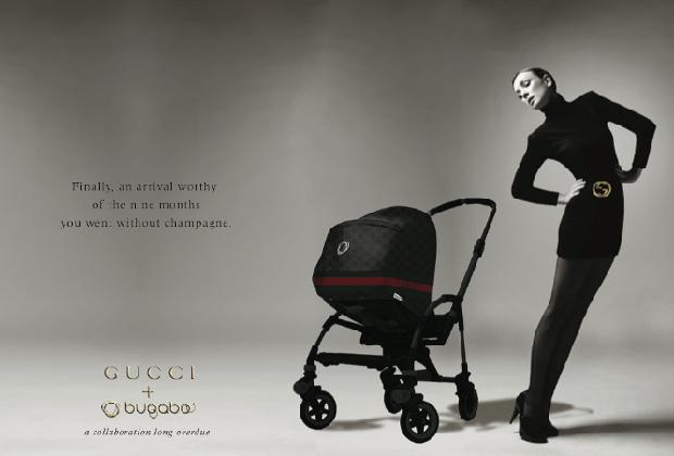 Реклама колясок Bugaboo х Gucci