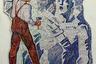 Выставочный зал Союза художников построили в Ялте в 1968 году. Двухэтажное здание выделяется необычной архитектурой: фасад стеклянный, а две глухие стены украшены мозаикой «Мечты и труд художника». Изначально ялтинские архитекторы хотели, чтобы здание украсили изображения крымских предметов декоративно-прикладного искусства (кувшины, пиалы и тому подобное). Но монументалист Екатерина Чернова, которой поручили работу над мозаикой, пошла другим путем.