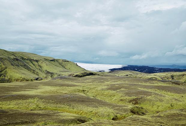 Лаймовые мхи и ледник Эйяфьятлайокудль
