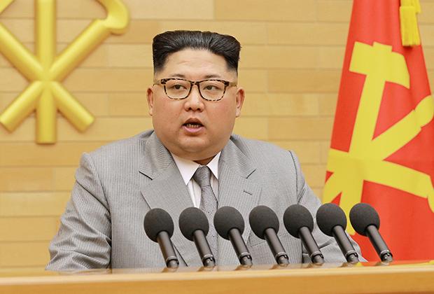 Ким Чен Ын во время новогодней речи