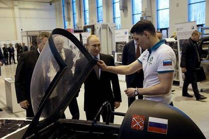 Путин пообещал лично оценить первый российский солнцемобиль