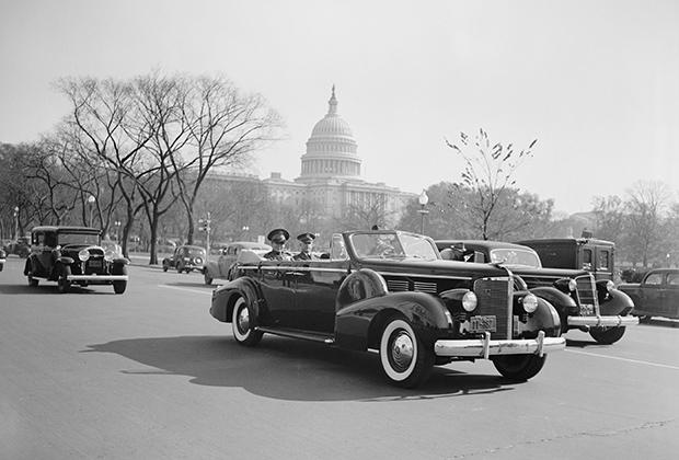 Батиста во время визита в Вашингтон