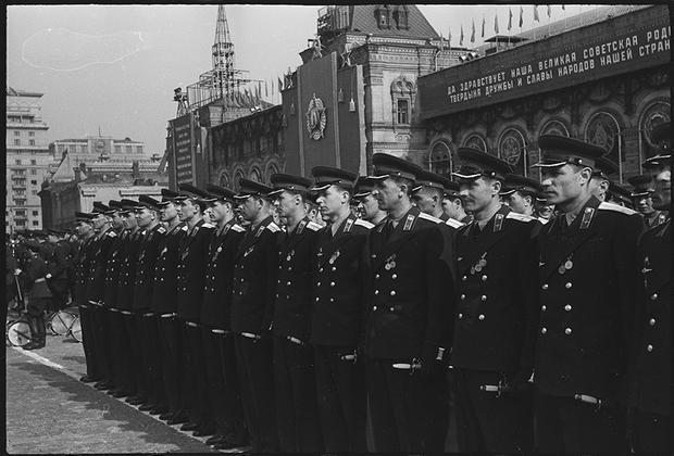 Парад на Красной площади. Москва. 1 мая, 1949 год.