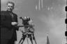 Оператор во время парада на Красной площади. Москва. 1 мая, 1951 год.