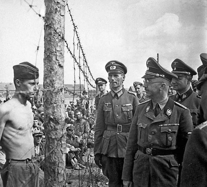 Посещение рейхсфюрером СС Генрихом Гиммлером лагеря на Широкой. 15 августа 1941 года