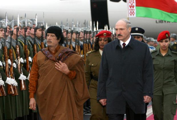 Муаммар Каддафи и Александр Лукашенко