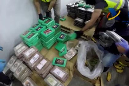Испанцы нашли среди бананов кокаин на 9 миллиардов евро