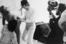 Стенли Кубрик во время съемок «Заводного апельсина».