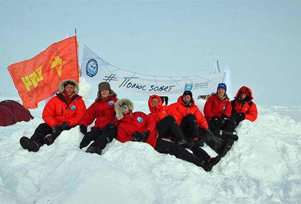 Отряд школьников на северной Вершине мира