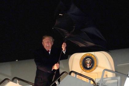 Трамп поборолся с зонтом и проиграл