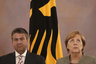 Зигмар Габриэль и канцлер ФРГ Ангела Меркель