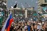 Если верить оценкам полиции, то на митинг пришли более 7 тысяч человек.